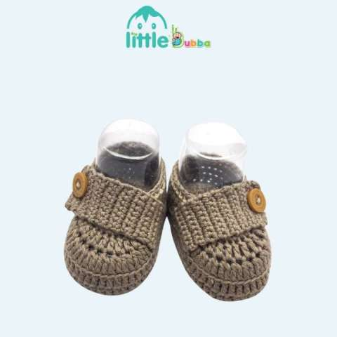 Mumsandbabes - Little Bubba Handmade Knit Shoes - Strap Newborn