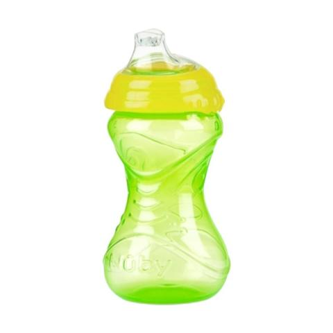 Mumsandbabes - Nuby Click It Sipper Spout 10121-106598 Training Cup - Green Yellow [300 mL]
