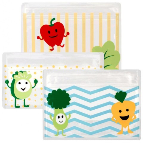 Mumsandbabes - Dr. Brown's AC067 Tummy Grumbles Reusable Set Snack Bags Mix