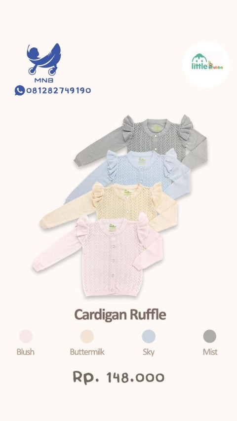 Mumsandbabes - Little Bubba Knit Wear Girl Cardigan Ruffle