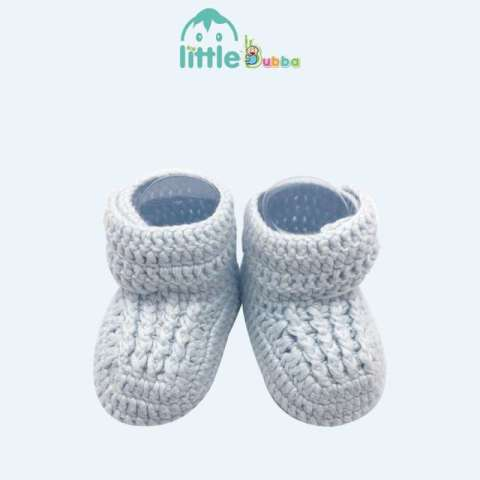 Mumsandbabes - Little Bubba Handmade Knit Shoes - Side Button Newborn