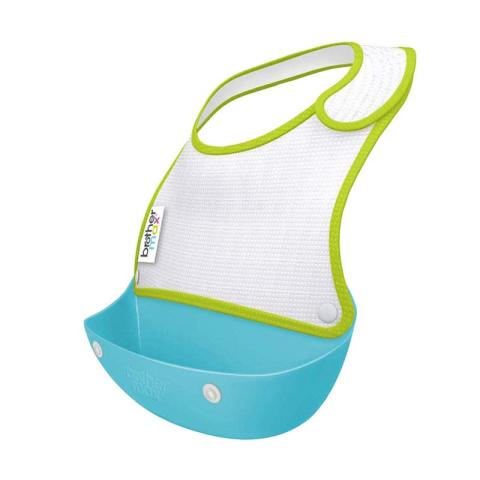 Mumsandbabes - Brother Max 2 Catch & Fold Baby Generic Bibs Blue Green