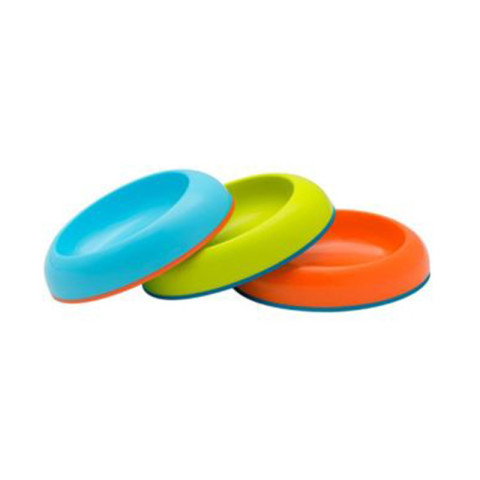 Mumsandbabes - Boon 10135 Dish Edgeless Stay-Put Bowl - Blue Orange Green