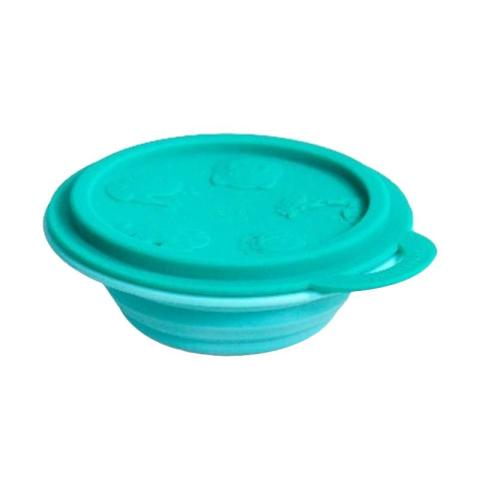 Mumsandbabes - Marcus&Marcus Alat Makan Collapsible Baby Bowl Green Elephant Green