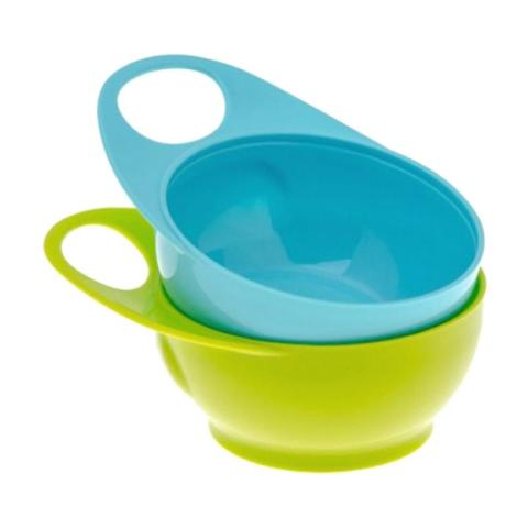 Mumsandbabes - Brother Max 2 Easy Hold Bowls Peralatan Makan - Blue Green