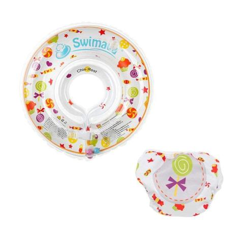 Mumsandbabes - Swimava SWM208 Candy G1 Starter Ring with Diaper - Mix Color