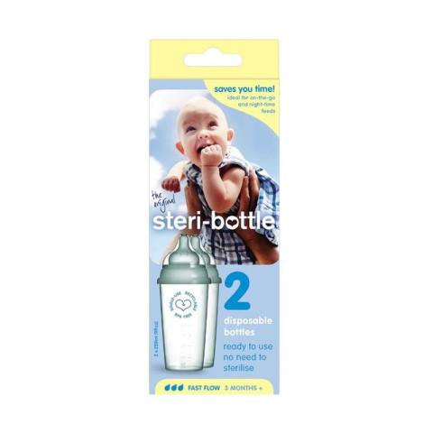 Mumsandbabes - Steri-Bottle Disposable Botol [2 Pack]