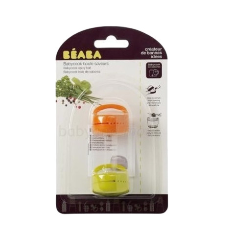 Mumsandbabes - Beaba Set Of 2 Seasoning Balls Tempat Bumbu - Orange Green 912211 OG