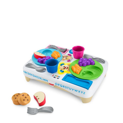 Mumsandbabes - Fisher Price DRF59 Laugh & Learn Say Please Snack Set