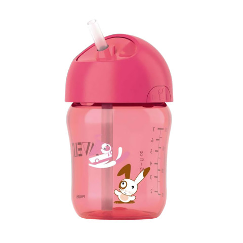 Mumsandbabes -  Philips Avent SCF760/00 Straw Cup - Pink (260ml)