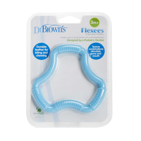 Mumsandbabes - Dr. Brown's A-Shaped Flexees TE100-P2 Teether - Blue