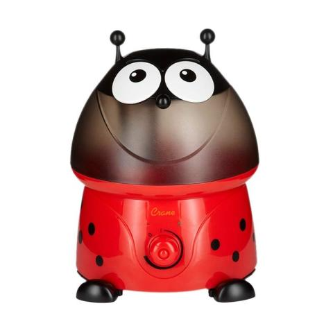 Mumsandbabes - Crane USA Adorables Lady Bug Cool Mist Humidifier Red Black