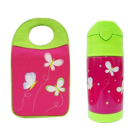 Mumsandbabes - Arvita Butterfly Lunch Bag + Free Arvita Water Butterfly Thermos Bottle