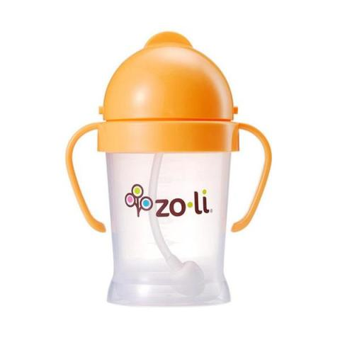 Mumsandbabes - Zoli Bot Straw Sippy Cup - Orange [6oz]