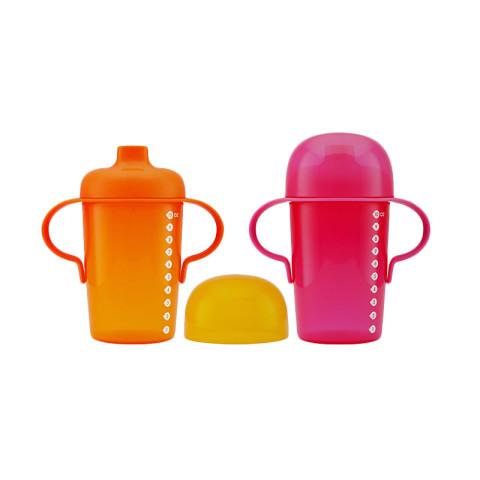 Mumsandbabes -  Boon 10070 Sip Sippy Cup 2 Pack - Pink Orange [10 oz]