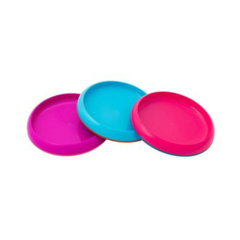 Mumsandbabes - Boon 11006 Plate 3PK Boy - Pink Blue Red