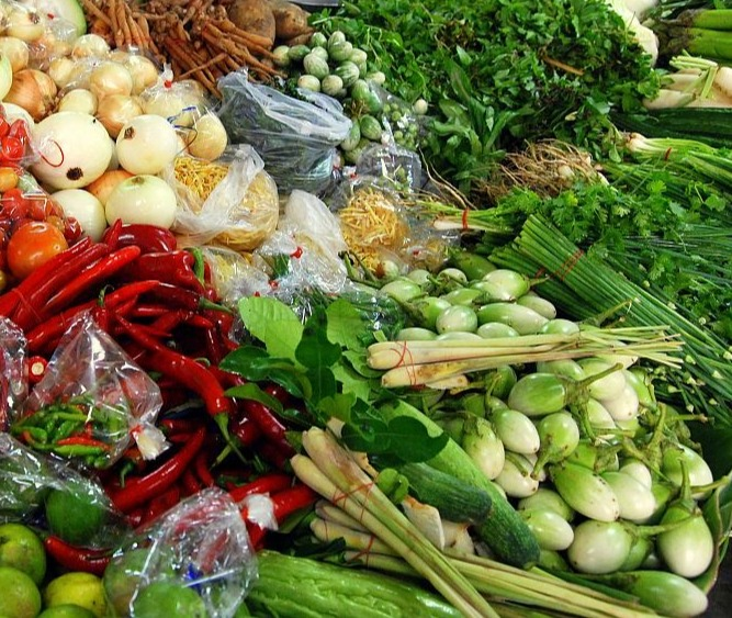 Thai grönsaksmarknad