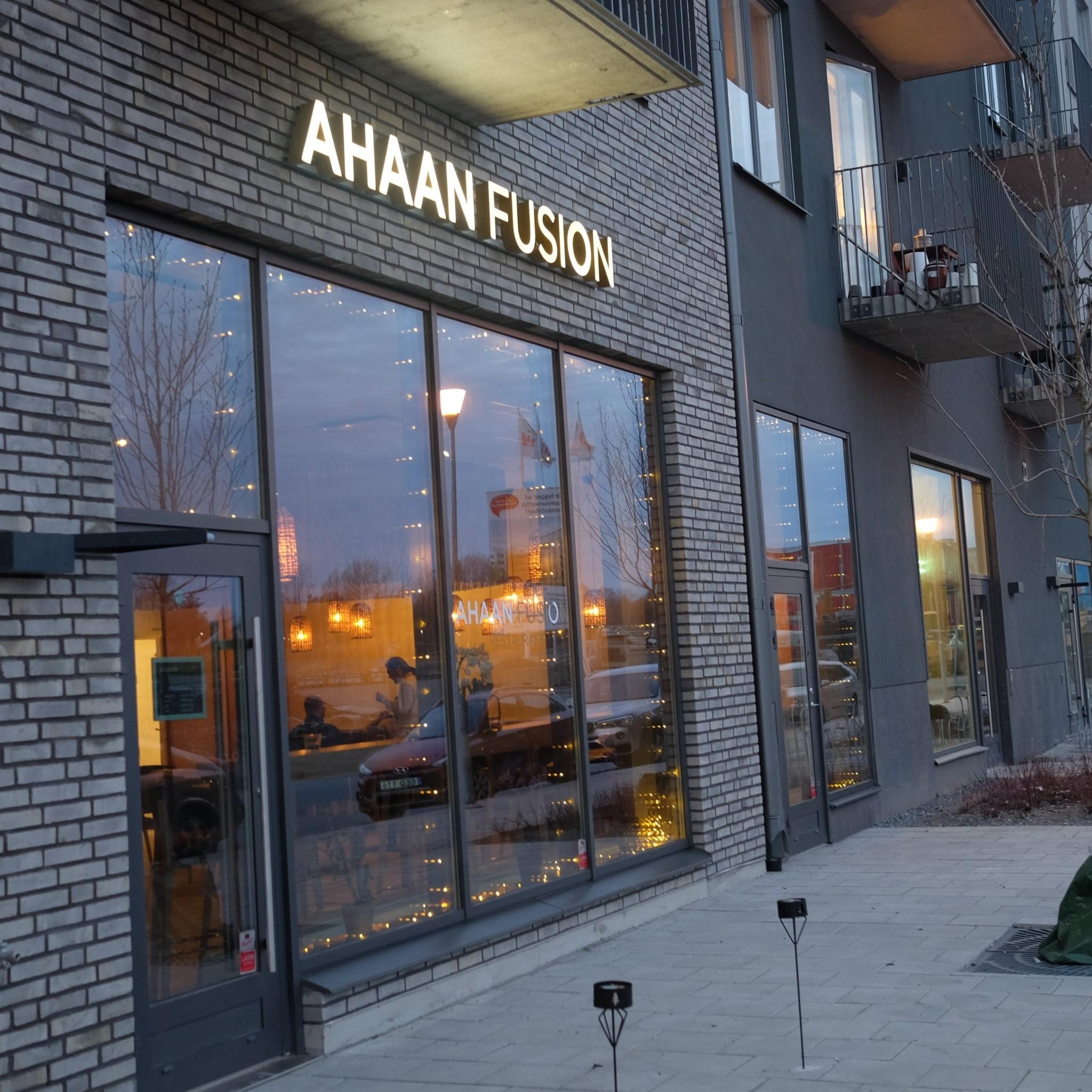 ahaan fusion restaurangen från utsidan