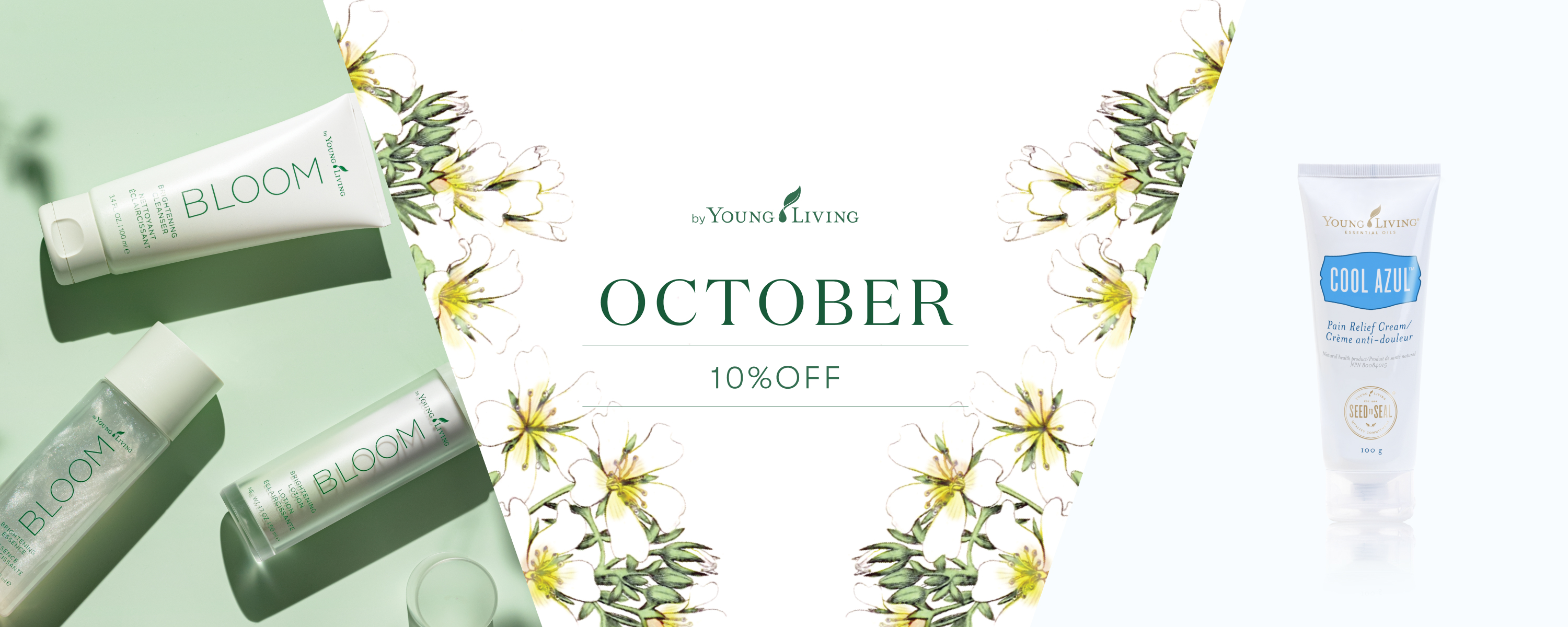 10% OFF in October | October 1st (Friday) -October 15th (Friday) | Bright care series that leads to bright and radiant skin with smooth texture
