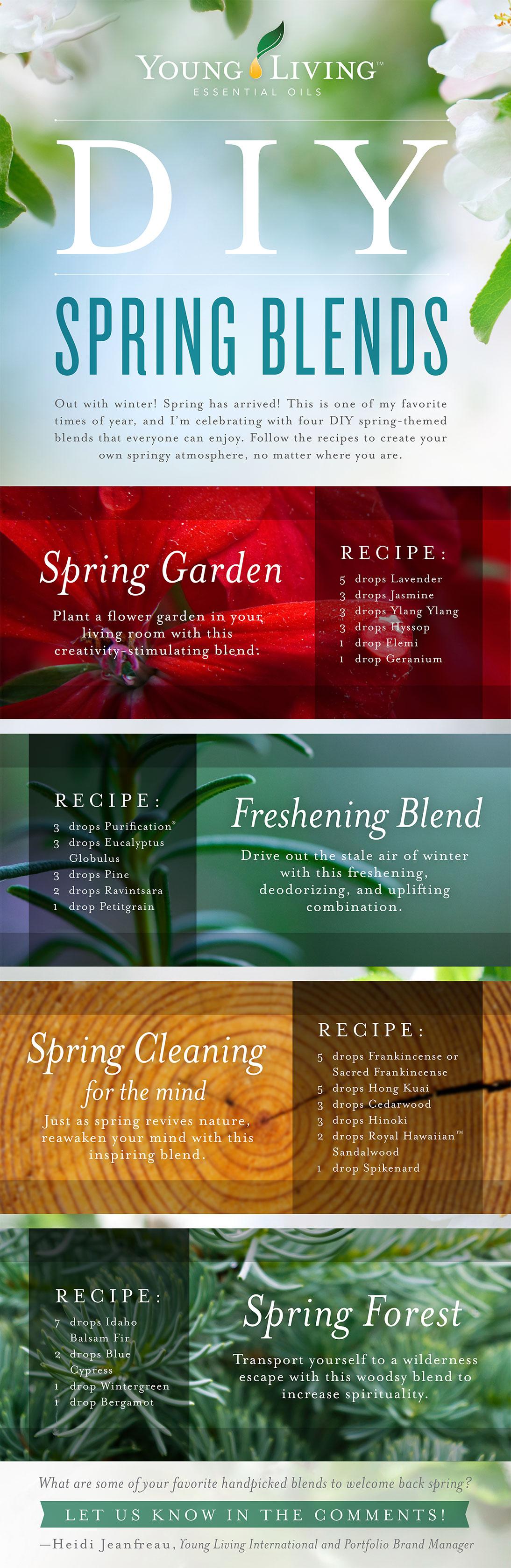 Diy Spring Essential Oil Blend Recipes Young Living Essential Oils
