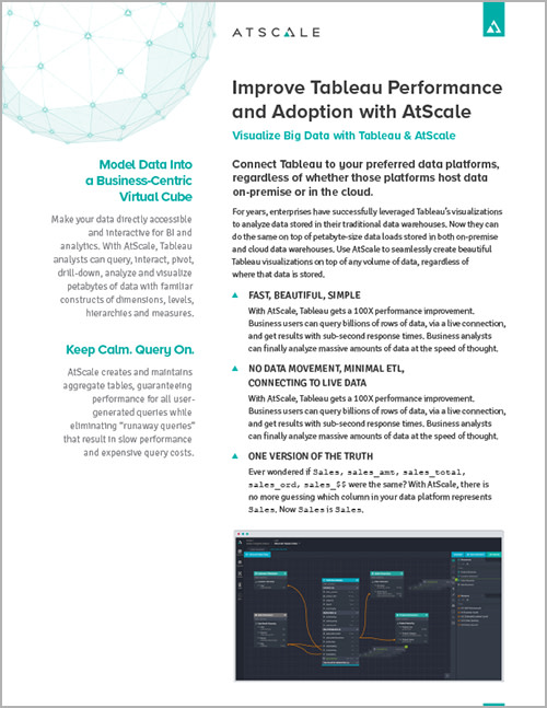 AtScale + Tableau Datasheet Cover (updated Jan 2019)