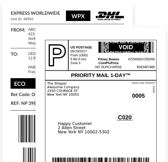 picture about Printable Ups Label identify Postmen - Print Transport Labels