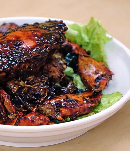 Singapore black pepper crab recipe header image