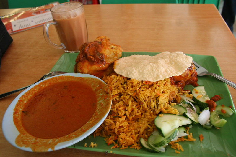 biryani - best hawker food in Singapore