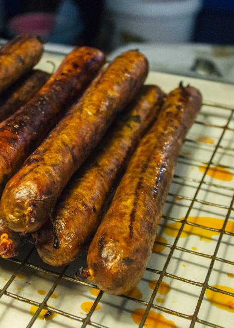 Taste the best sai oua sausage in Chiang Mai