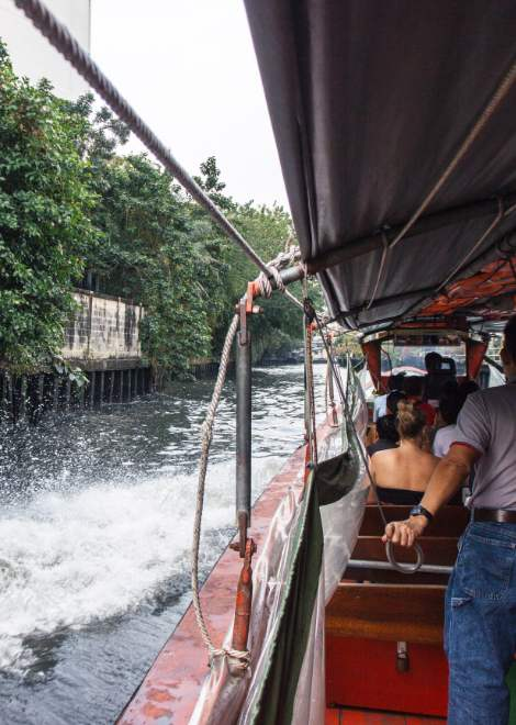 Reach the market via the local klong canals