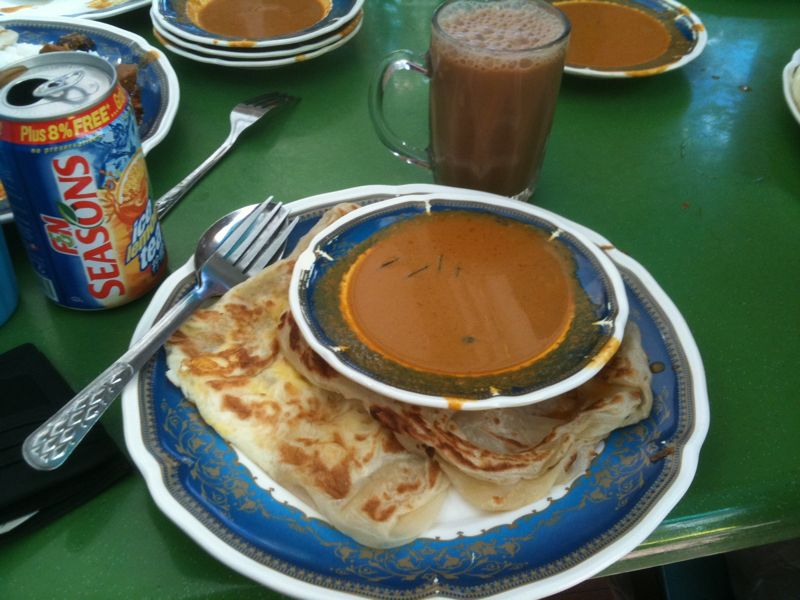 roti prata - best hawker food in Singapore