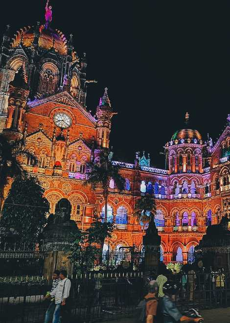 Finish up at the truly beautiful Chhatrapati Shivaji Terminus
