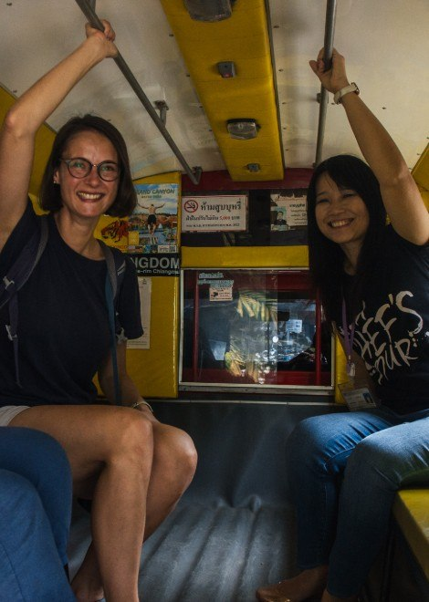 Explore Chiang Mai in our private songthaew truck