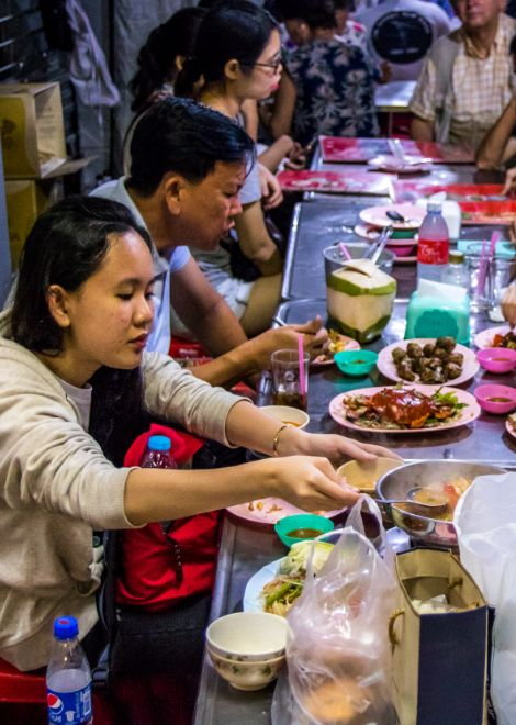 Food feasting along the backstreets of Bangkok
