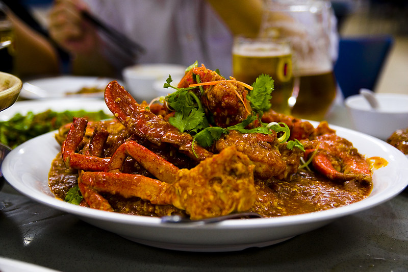 chilli crab - best hawker food in Singapore