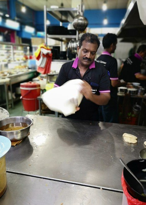 Watch rotis being made in Singapore