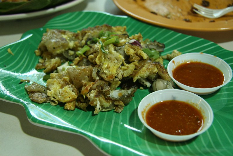 Oyster Omelette - best hawker food in Singapore