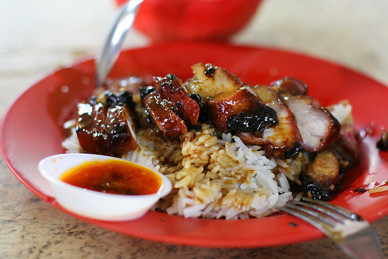 Char siew - best hawker food in Singapore