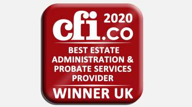 CFI 2020 Best Estate Administration and Probate Services Provider - winner uk