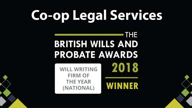 The British Wills and Probate Awards 2018 winner for the national will writing firm of the year