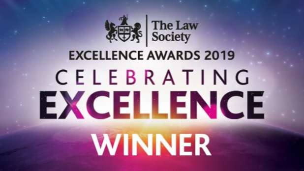 The Law Society Excellence awards 2019 - Celebrating Excellence Winner
