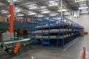 Used Carton Flow Rack System - Back View