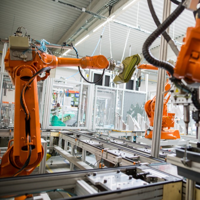 Factory with Robotic automation