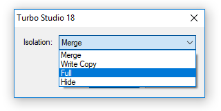 Studio isolation modes