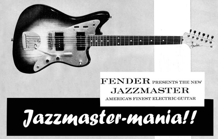 ผลการค้นหารูปภาพสำหรับ fender jazzmaster history