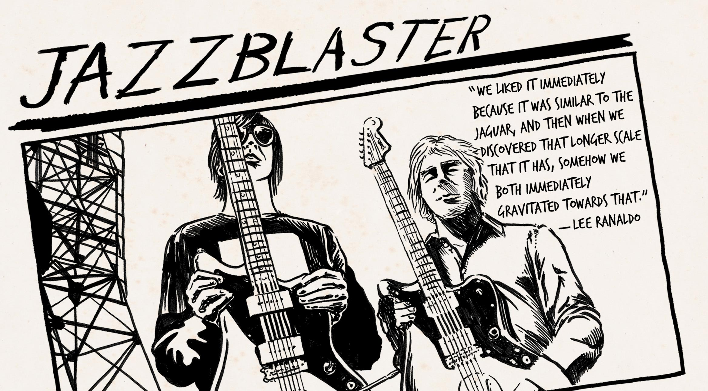 Iconic Mods How Sonic Youth Invented The Jazzblaster Fender Stratocaster Bridge Tone Control Wiring Diagram