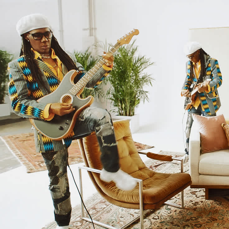 Nile Rodgers Plays a New Song on the Acoustasonic Stratocaster