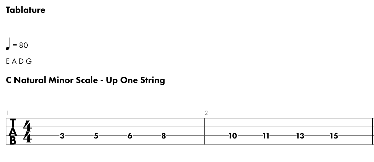 C Natural Minor Scale (enlarged)