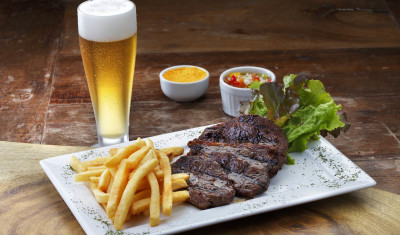 Dinner - Steak & Beer