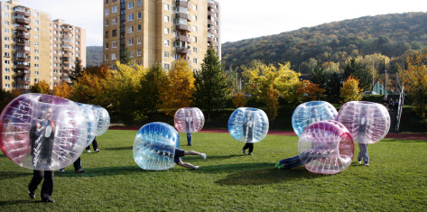 Outdoor Bubble Fußball